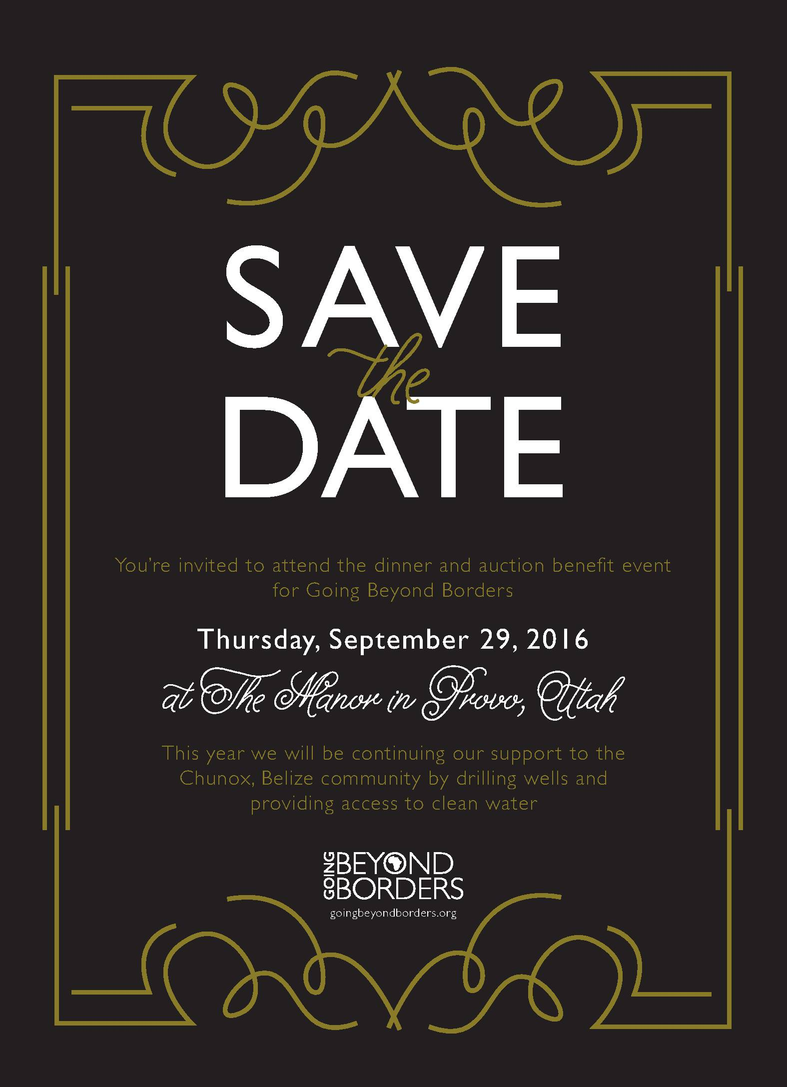 Dinner and Auction – Save the Date